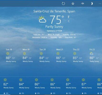 Cómo verificar el clima en tu teléfono Windows 10 Oficina
