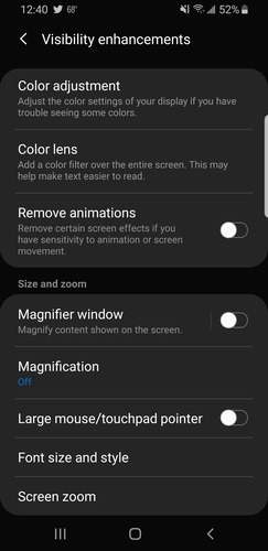 Android        Incrementar la accesibilidad