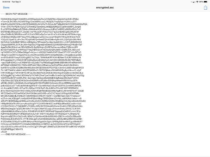 Texto encriptado IPGMail