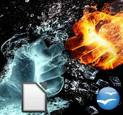 LibreOffice versus.  OpenOffice: elección de escritura