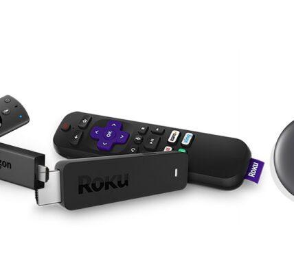 Amazon Fire TV Stick vs.  Chromecast versus.  Clave de transmisión de Roku