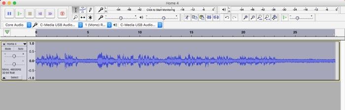 Selección de la aplicación de eliminación de ruido Audacity
