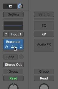 Apertura del ecualizador con cancelación de ruido Logic Pro X