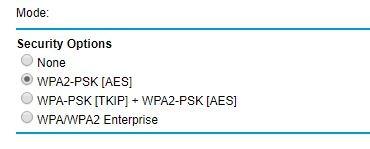 Opciones de seguridad de advertencia de wifi no garantizadas