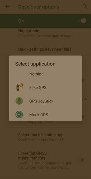 Android        Suplantación de ubicación1