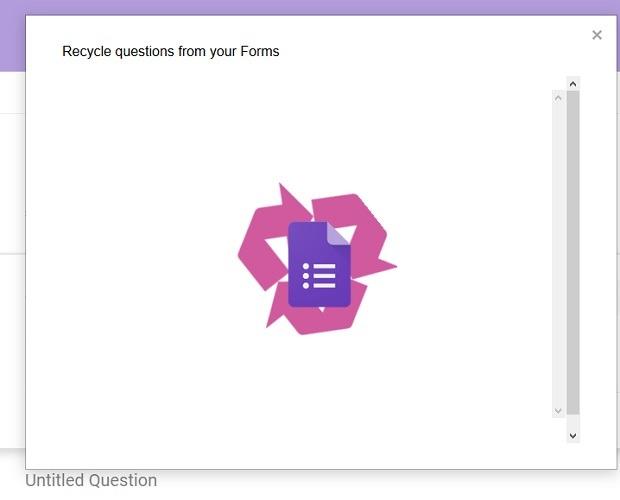 Formulario de reciclaje de funciones de preguntas
