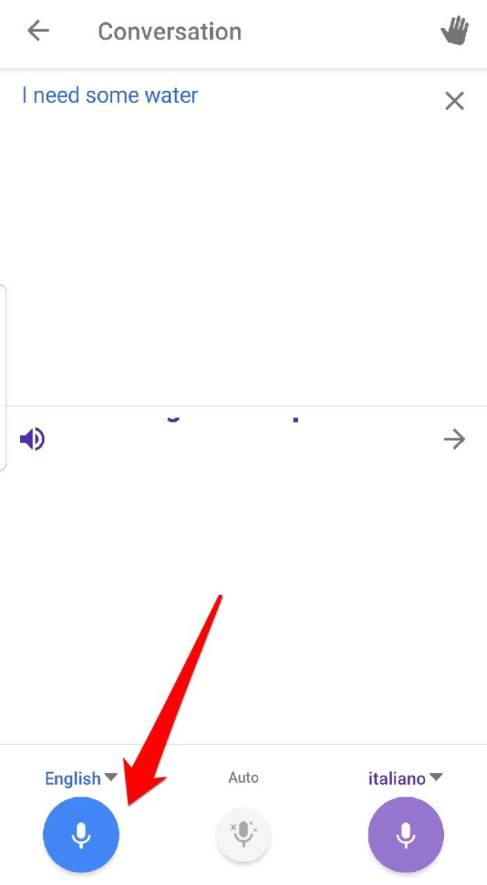 La conversación del Traductor de Google habla