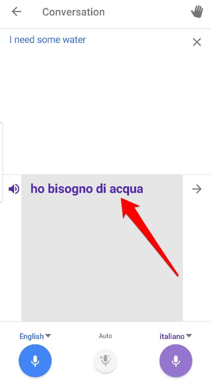 Conversación de traducción de Google Habla la traducción