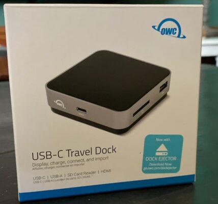 ¿Sin puertos?  Pruebe la base de viaje OWC USB-C