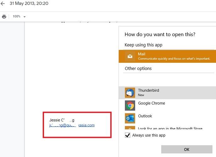 Envíe un correo electrónico a Google Drive directamente desde el documento