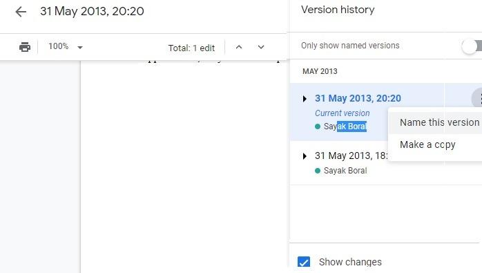La versión cambia los documentos de Google Drive