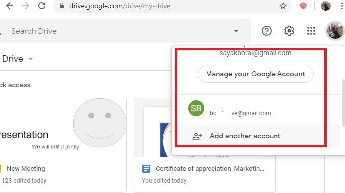 Google Drive Agregar más cuentas