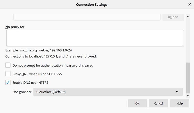 DNS sobre Https permite Firefox Doh