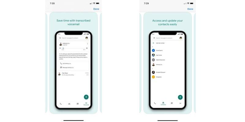 Sobrecargar el correo de voz de los mensajes de Ios de Google Voice