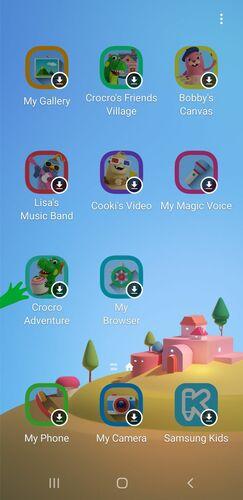 Prueba de niños Android Teléfono Samsung Home Launcher para niños