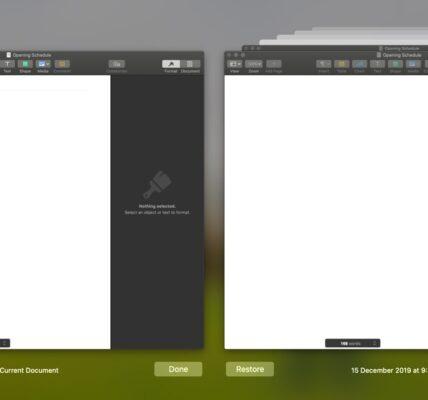 Cómo eliminar una versión de archivo de guardado automático en macOS