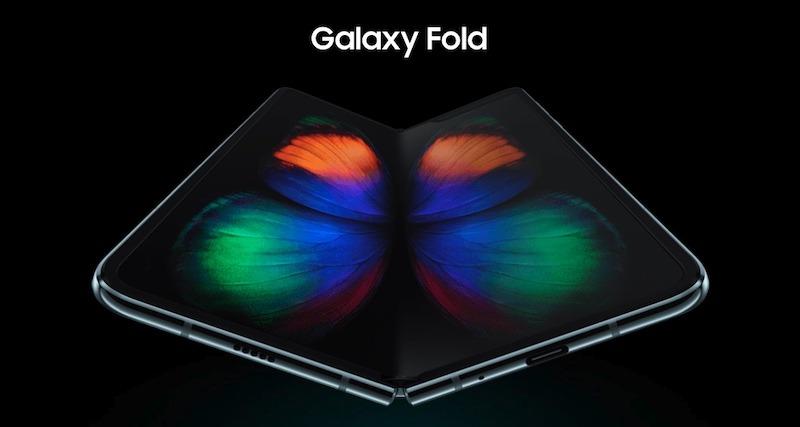 Listo para doblar Smartphone Galaxy pliegue