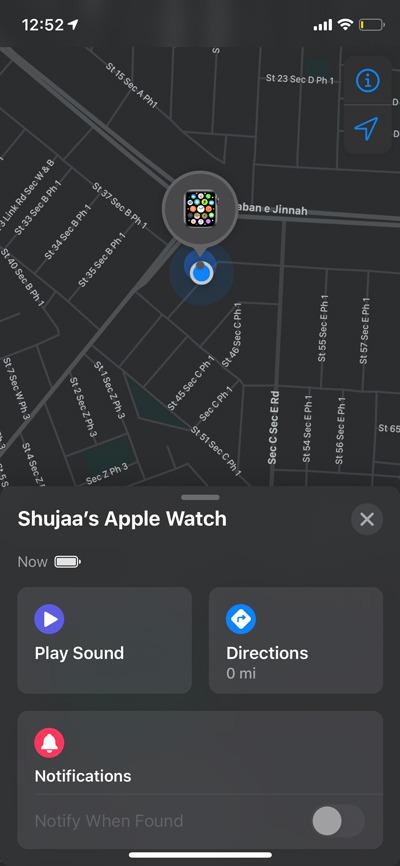 Encuentra Apple Watch Encuentra la aplicación Find My