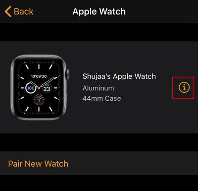 Encuentra información sobre la aplicación Apple Watch Watch