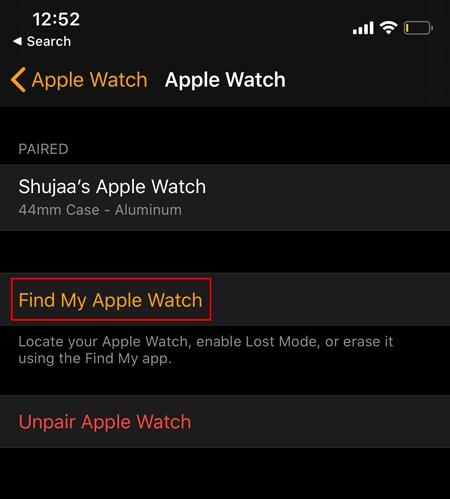 Encuentra el Apple Watch Encuentra el reloj