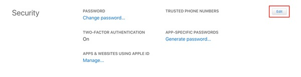 Número de confianza de Icloud Agregar número Sitio web de Apple