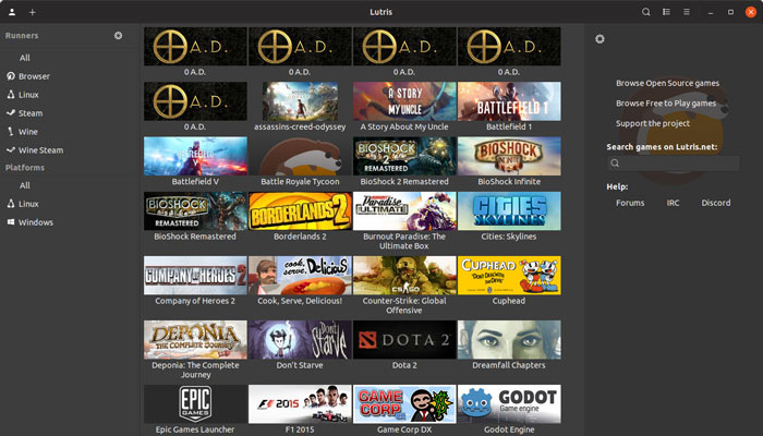 Jugar Windows Juegos de Linux Lutris 2