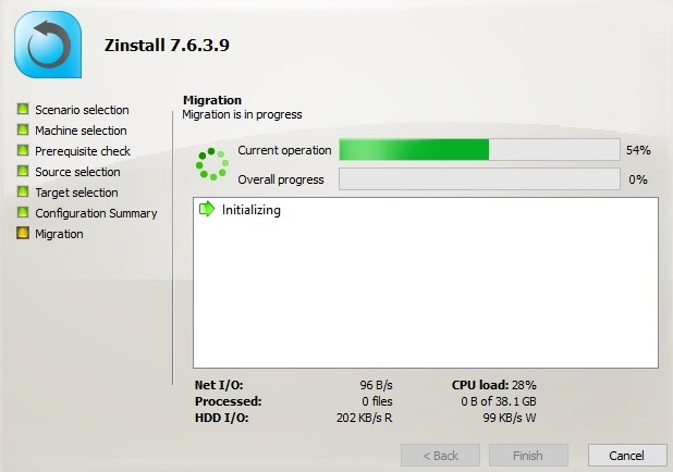 Migración de Zinstall entre PC