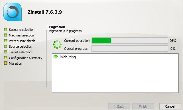 Migración del perfil de usuario de Zinstall