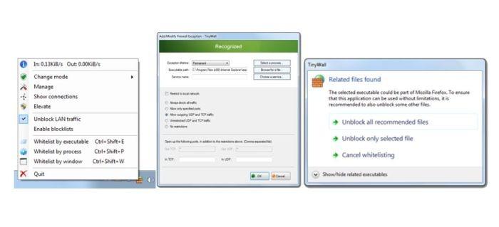 El mejor firewall gratuito Windows Pared pequeña