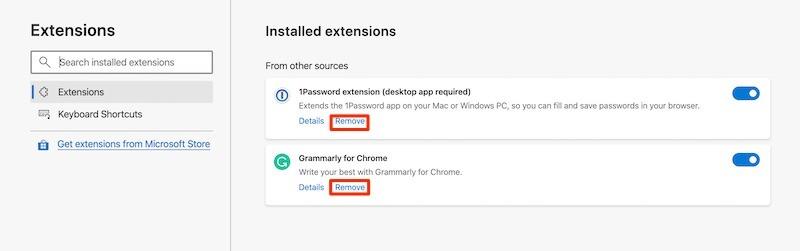Instalar Microsoft Edge Extensions Quitar Chrome
