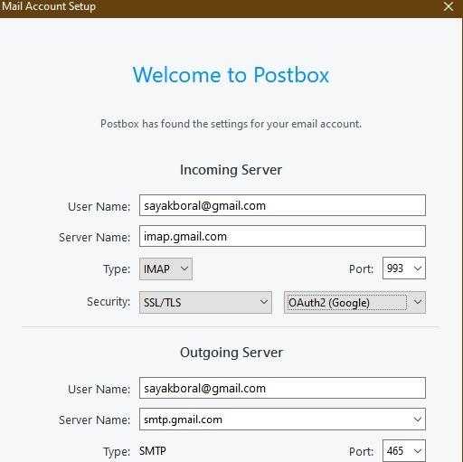 Configurar Gmail para el buzón de correo del cliente