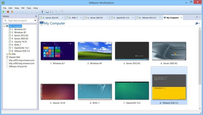 Estación de trabajo Virtualbox Vs Vmware Vmware
