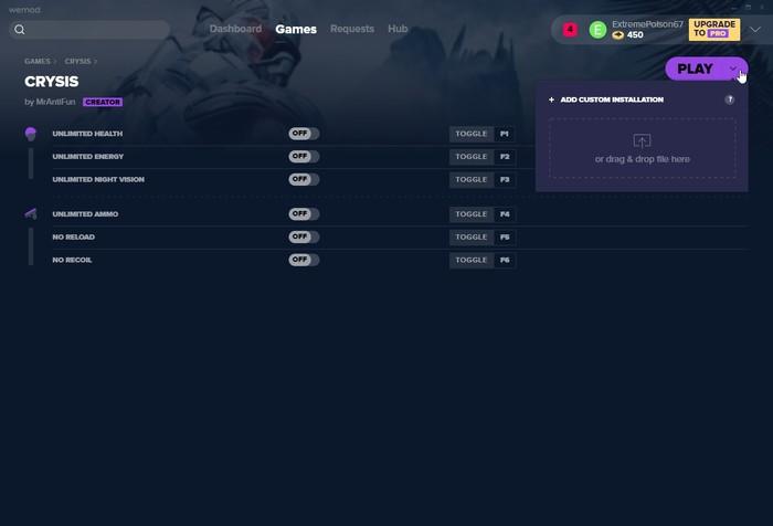 Instala el juego Wemod personalizado
