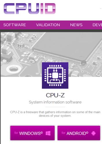 Identificación de la tarjeta gráfica Cpu Z For Windows