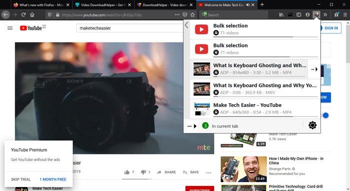 El mejor ayudante para descargar extensiones de video de Firefox