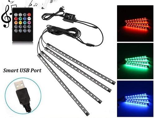 Luces LED con iluminación interior de coche USB