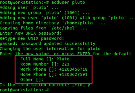 Control GECOS para usuarios de Linux