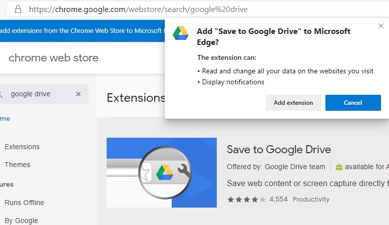 Manos en Microsoft Edge Agregar extensión de Chrome a Microsoft Edge