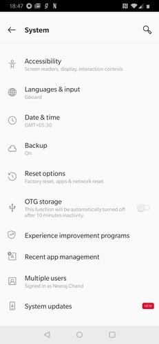 Android        Página del sistema
