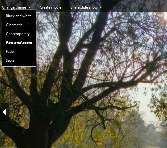 Ver la presentación Windows 10 Galería de fotos