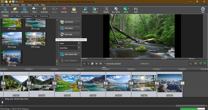 Ver la presentación Windows 10 fotosejecución por el software Nch