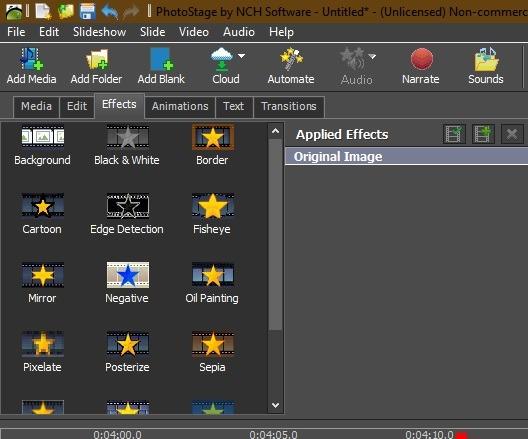 Ver la presentación Windows 10 efectos adicionales del software Photostage de Nch