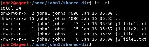 archivos en directorio compartido