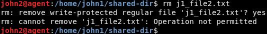 no se permite la eliminación de archivos