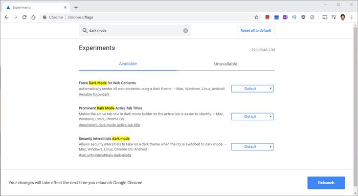 Cómo agregar banderas de Google Chrome en la oscuridad