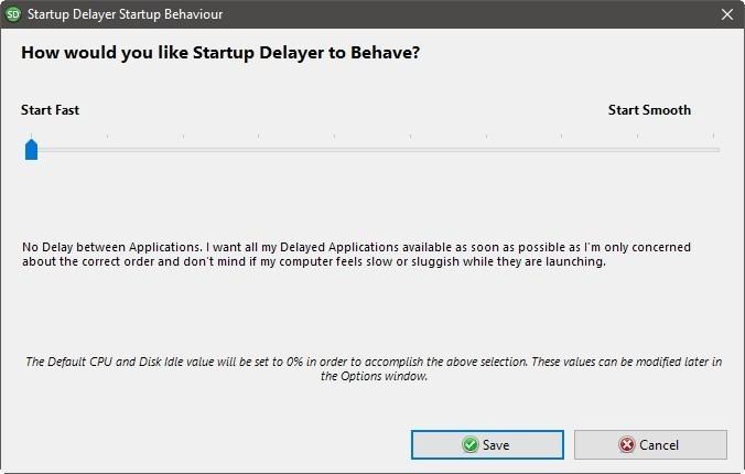 Startup Delayer Optimiza la conexión Comienza rápidamente