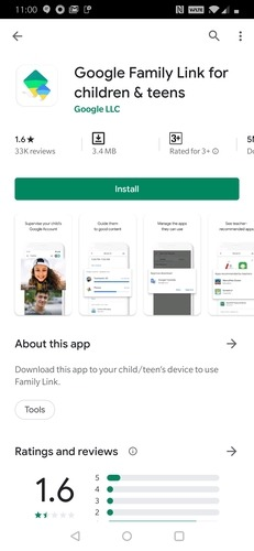 Niños de Google Family Link