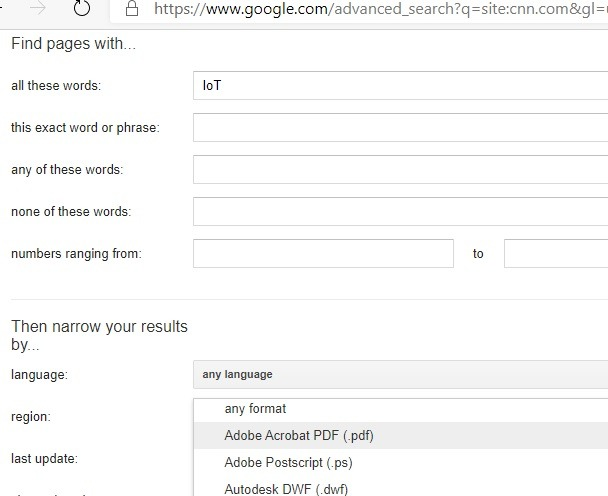 Resultados basados en el formato de Google específico del sitio