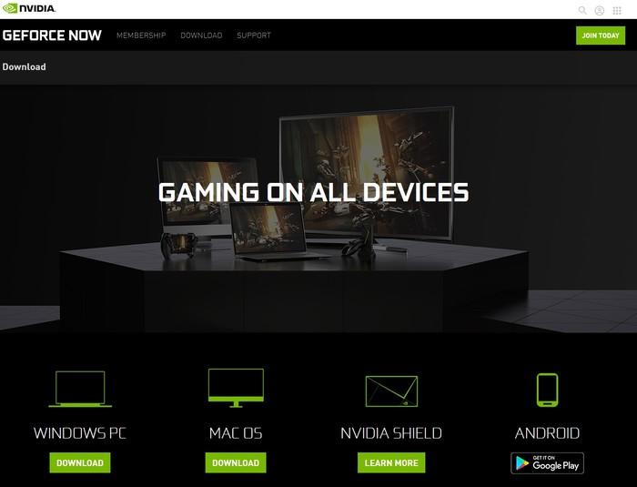 Cliente Geforce Now para descargar transmisiones de juegos