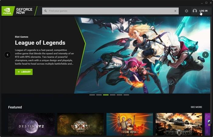 Conexión Geforce Now Game Stream Link